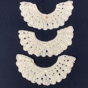 Handmade crochet RGB style collars